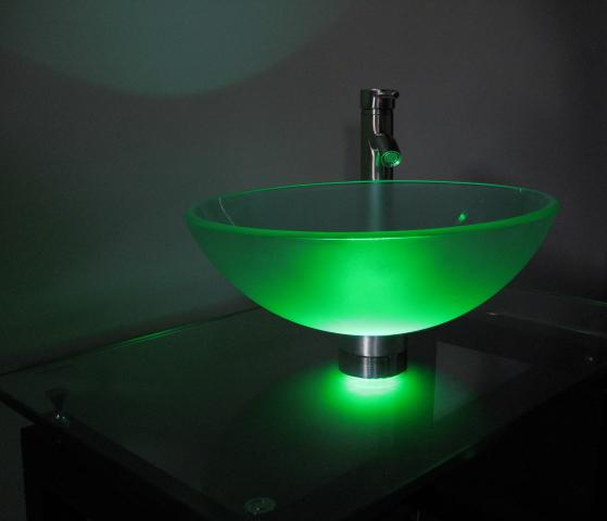 Superieur Green Vessel Sink Mounting Ring LED Light (ML119)