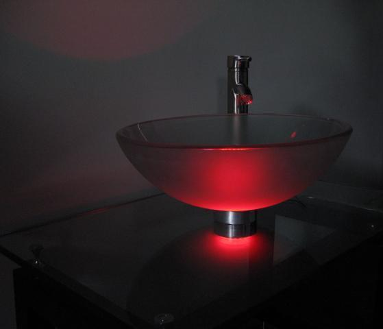 Charmant Red Vessel Sink Mounting Ring LED Light (ML119)