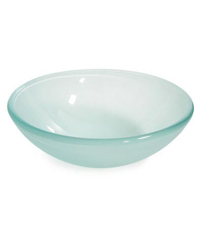 Frosted double tempered glass vessel sink bowl (B7082)